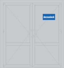 Дверь ПВХ Дверь ПВХ Deceuninck Фаворит Спэйс 1300*2050 двустворчатая Модель 16