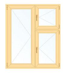 Деревянное окно Сосна для дачи, 1с, Модель 1