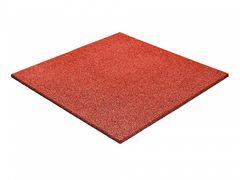 Резиновая плитка Regupol Красная 500x500