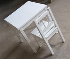 Детский стул Детский стул ВудГрупп ММ Табурет со спинкой белый