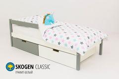 Детская кровать Детская кровать Бельмарко Skogen Classic графит-белый