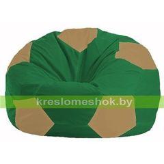 Бескаркасное кресло Бескаркасное кресло Kreslomeshok.by Мяч М 1.1-237 зелёно - бежевый