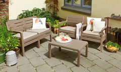 Комплект мебели из ротанга Keter Delano set капучино