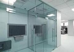 Перегородка Valtera офисная из полированного стекла 6мм