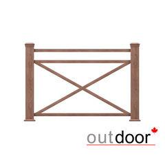 Элементы ограждений и лестниц Outdoor Кантри плюс 1000x1500 мм текстура дерево коричневое