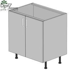 Кухонный шкаф Кухонный шкаф Диприз Шкаф нижний 80 двойной Д 9001-30