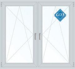Окно ПВХ Окно ПВХ Veka Softline 1460*1400 2К-СП, 5К-П, П/О+П/О