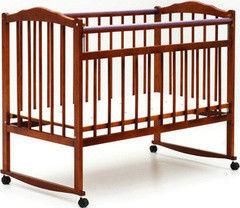 Детская кровать Кроватка Bambini Модель 1 (светлый орех)