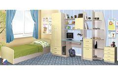 Детская комната Детская комната Олмеко Лего дуб линдберг/кремовый металлик