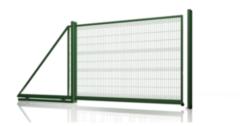 Асвик Ворота сдвижные самонесущие из евросетки RAL 6005 4.5м