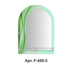 Зеленая мебель для ванной Алмаз-Люкс Зеркало с полками F-420-3