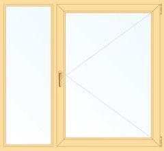 Деревянное окно Сосна 1460*1400, 1с, Г+П