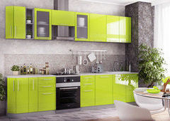 Кухня Кухня ДСВ Мебель Олива бело/салатовая (линейная)