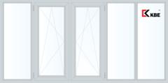Балконная рама Балконная рама KBE 3650*1450 2К-СП, 6К-П, Г+П/О+П/О+Г+Г
