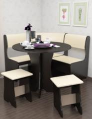 Кухонный уголок, диван Феникс Тип 1 мини (венге + экокожа беж)