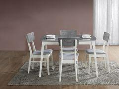 Обеденный стол Обеденный стол Signal Rimini 120 раскладной (серый/белый)