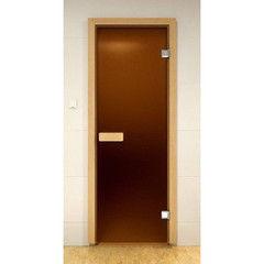 Дверь для бани и сауны Дверь для бани и сауны ALDO Таллин матовая (прямоугольная ручка) 690х1840