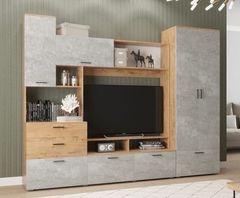 ДСВ Мебель Дуся ДГ 183.1+ДШ 67.1 (Дуб бунратти\Цемент)