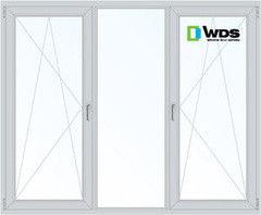 Окно ПВХ Окно ПВХ WDS 2060*1420 1К-СП, 3К-П, П/О+Г+П/O