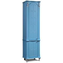 Мебель для ванной комнаты Калинковичский мебельный комбинат Шкаф-пенал Версаль КМК 0454.6 (небесная лазурь)