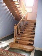 Деревянная лестница Деревянная лестница Кошель А.М. Вариант 1 с ограждением