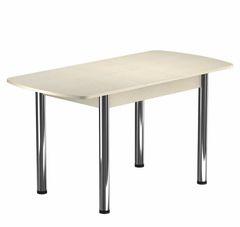 Обеденный стол Обеденный стол Васанти плюс БРП 120/152*80Р (Бежевый/Хром)