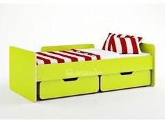 Детская кровать Детская кровать Легенда 14 с ящиками (лайм)