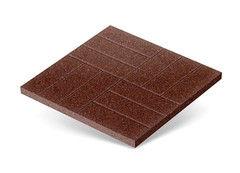 "Резиновая плитка Rubtex Плитка ""Брусчатка"" 500x500 (коричневая)"