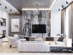 Дизайн гостиной PuzzleHome Вариант 31