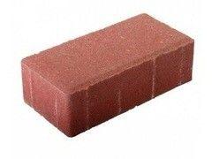 Тротуарная плитка Тротуарная плитка Тротуарки Кирпичик красный 198x98x80