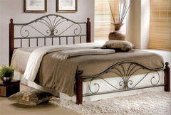 Кровать Кованая кровать Red&Black Равенна Mara-160x200 (Темный орех)