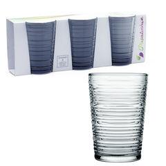 Pasabahce Комплект из 3-х стаканов 290 мл, цв. серый Granada