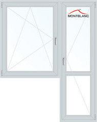 Окно ПВХ Montblanc Eco 60 1440*2160 1К-СП, 3К-П, П/О+П