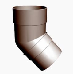Водосточная система Docke Standard Колено трубы 45° (шоколад)