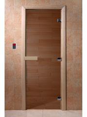 Дверь для бани и сауны Дверь для бани и сауны Doorwood Теплый день бронза 800x1900 (осина)