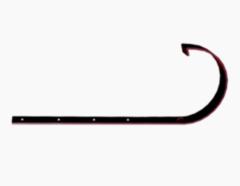 Водосточная система Docke Standard Кронштейн желоба металлический (гранат)