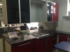 Кухня Кухня ЗОВ Краска (Металлопрофиль стекло графит)