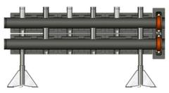 Комплектующие для систем водоснабжения и отопления Meibes Распределительный коллектор Victaulic 66457.1
