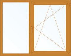 Деревянное окно Лиственница 1460*1400, 1с, Г+П/О