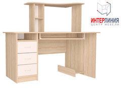 Письменный стол Интерлиния СК-003 Дуб сонома+Белый