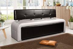 Кухонный уголок, диван ДвериДом Кухонный диван Оскар-2 (черный-серебро)