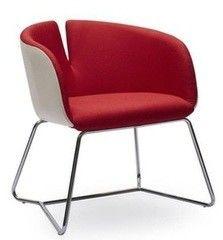 Кресло Halmar Pivot (бело-красное)