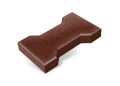 """Резиновая плитка Rubtex Брусчатка """"Катушка"""" 220x130 (толщина 40 мм, коричневая)"""