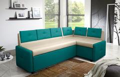 Кухонный уголок, диван  Кухонный диван Оскар (бирюзово-кремовый)