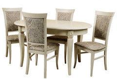 Обеденный стол Обеденный стол Пинскдрев Верди 10А П313.07 (слоновая кость с патинированием)