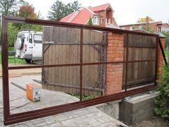 СМК-строй Ворота откатные без заполнения авт.