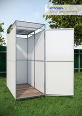 Летний душ для дачи Летний душ для дачи Агросфера С тамбуром + бак с подогревом на 250 л