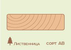 Террасная доска Лиственница 45*140 (палубная доска), сорт АВ