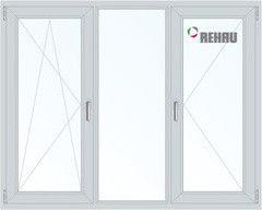 Окно ПВХ Окно ПВХ Rehau 2200*1400 1К-СП, 3К-П, П/О+Г+П