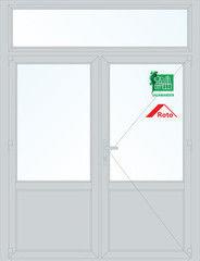 Дверь ПВХ Дверь ПВХ Salamander 2D 1800*2700 двустворчатая Модель 39